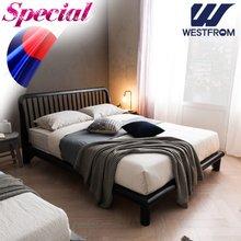 [웨스트프롬] 모던마테라) 통원목 평상형 침대(퀸) / 스페셜 S3 QUEEN 매트리스