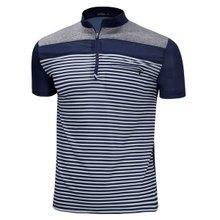 [파파브로]남성 기능성 쿨링 등산복 스판 반팔 티셔츠 MB-HS-WP-네이비