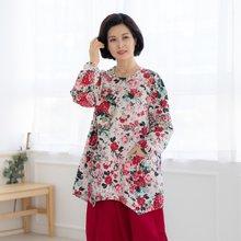 마담4060 엄마옷 화려한꽃생활한복상의 ZKC002006
