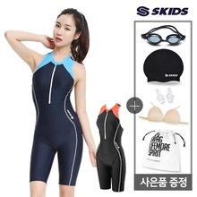 여성 지퍼형 반전신 실내수영복+사은품4종 SKW-C371SET
