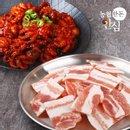 [농협안심한돈] 옛날 냉동 삼겹살 200g+화양쭈꾸미 매운맛 320gx2팩