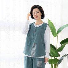 마담4060 엄마옷 체크배색생활한복조끼 ZKC002004