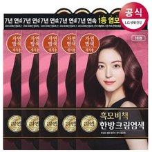 *[리엔] 흑모비책 크림 자연밤색 염색약 120g x5개