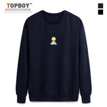 [탑보이] 스마일 프린팅 기모맨투맨 티셔츠 (CR149)