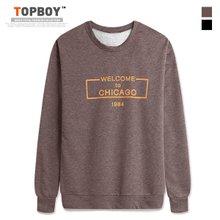[탑보이] 시카고 프린팅 기모 맨투맨 티셔츠 (CR150)