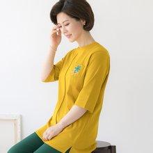 마담4060 엄마옷 포켓플라워티셔츠 QTE904055