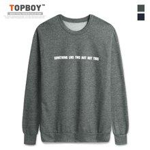 [탑보이] 썸띵 프린팅 기모맨투맨 티셔츠 (CR151)