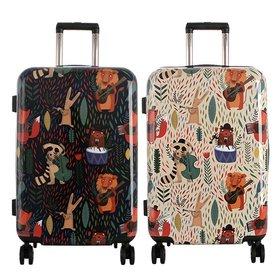 [타임워커]일러스트 여행용 캐리어 24형 애니멀뮤지션 화물용 여행가방/TSA/확장