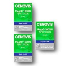 [세노비스 ] 메가D 1000IU (60캡슐,60일분) x 3통