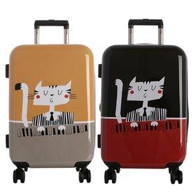 [타임워커]일러스트 여행용 캐리어 20형 캣피아노 기내용 여행가방/TSA/확장