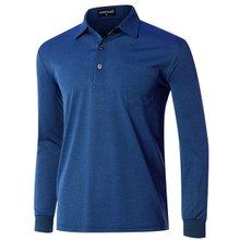 [파파브로]남성 국산 인견 줄무늬 카라 티셔츠 TH-A9-162-네이비