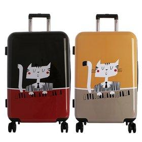 [타임워커]일러스트 여행용 캐리어 24형 캣피아노 화물용 여행가방/TSA/확장
