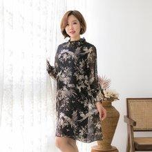 마담4060 엄마옷 골드플라워원피스 QOP901018