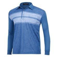 [파파브로]남성 국산 긴팔 면 카라 티셔츠 TH-A9-353-블루