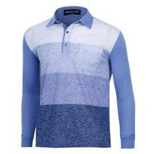 [파파브로]남성 국산 긴팔 면 카라 티셔츠 TH-A9-356-블루