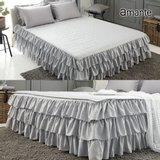 (슈퍼싱글)아망떼 피에르 로맨틱 침대커버 패드세트(침대커버1장+패드1장)