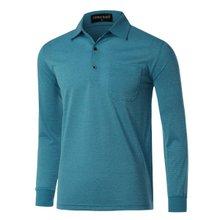 [파파브로]남성 국산 긴팔 기본 카라 티셔츠 TH-A9-315-청록