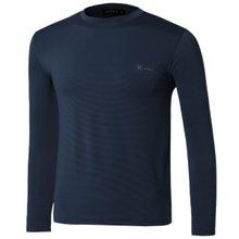 [파파브로]남자 여름 기능성 스판 라운드 긴팔 티셔츠 MB-TR9-WP-네이비