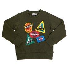 [몽클레어키즈] 로고 8028050 809B3 830 8A10A 키즈 긴팔 기모 맨투맨 티셔츠
