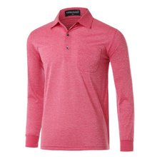 [파파브로]남성 국산 긴팔 기본 카라 티셔츠 TH-A9-317-핑크