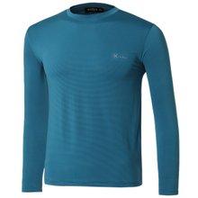 [파파브로]남자 여름 기능성 스판 라운드 긴팔 티셔츠 MB-TR9-WP-청록