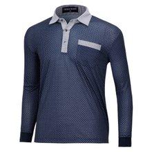 [파파브로]남성 국산 긴팔 면 카라 티셔츠 TH-A9-1101-네이비