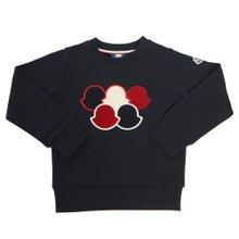 [몽클레어키즈] 로고 8026500 809B3 778 8A10A 키즈 긴팔 기모 맨투맨 티셔츠