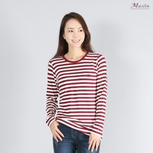 엄마옷 모슬린 데일리 단가라 티셔츠 TS8091102