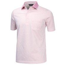 [파파브로]남성 여름 국산 줄무늬 반팔 카라 면 티셔츠 HL-H9-114-핑크