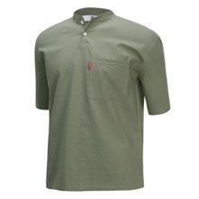 [파파브로]남성 여름 국산 헨리넥 반팔 면 티셔츠 LM-H-GH-카키