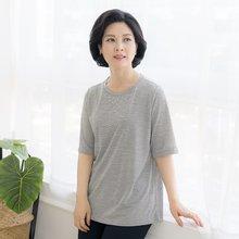 마담4060 엄마옷 샤이니라운드티셔츠-ZTE004075-