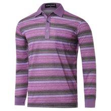[파파브로]남성 스트라이프 국산 카라 티셔츠 TH-A9-925-퍼플