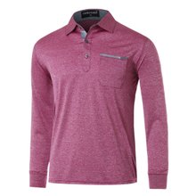 [파파브로]남성 국산 긴팔 면 카라 티셔츠 TH-A9-306-와인