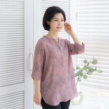 마담4060 엄마옷 매력반오픈티셔츠-ZTE004073-