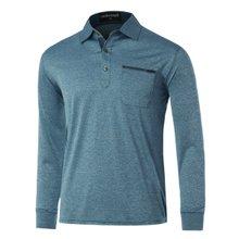 [파파브로]남성 국산 긴팔 면 카라 티셔츠 TH-A9-307-청록