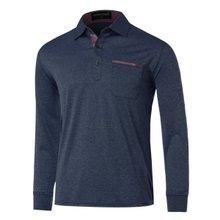 [파파브로]남성 국산 긴팔 면 카라 티셔츠 TH-A9-308-네이비