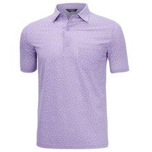 [파파브로]남성 여름 국산 패턴 반팔 카라 티셔츠 HL-H9-119-퍼플