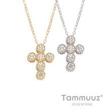 [타뮤즈] 14K 다미큐크로스-G3267N-옐로우골드-목걸이-선물용