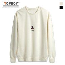 [탑보이] 보이 프린팅 라운드 기모맨투맨 티셔츠 (CR146)