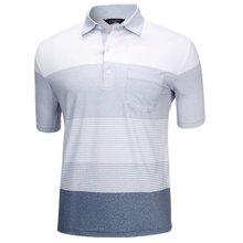 [파파브로]남성 여름 국산 패턴 반팔 스판 카라 티셔츠 HL-H9-122-그레이