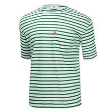 [파파브로]남성 국산 스트라이프 면 반팔 티셔츠 LM-H-STR-그린
