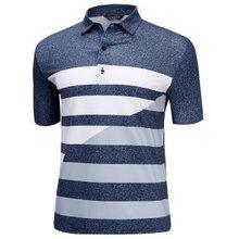[파파브로]남성 여름 국산 패턴 반팔 스판 카라 티셔츠 HL-H9-123-진네이비