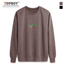 [탑보이] 선인장 프린팅 기모 맨투맨 티셔츠 (CR148)