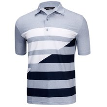 [파파브로]남성 여름 국산 패턴 반팔 스판 카라 티셔츠 HL-H9-124-그레이