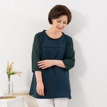마담4060 엄마옷 넥프릴소매망티셔츠 QTE907033