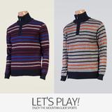 [마운틴가이드]겨울용 기능성 남성 등산티셔츠/집업 니트 골프티셔츠 ELM-T7438