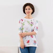 마담4060 엄마옷 꽃무늬티셔츠 QTE907029