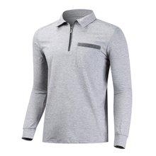 [파파브로]남성 기능성 등산복 긴팔 카라 티셔츠 DW-A-AJM-그레이