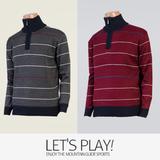 [마운틴가이드]겨울용 기능성 남성 등산티셔츠/집업 니트 골프티셔츠 ELM-T7437