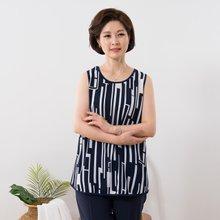 마담4060 엄마옷 세련된막대민소매 QSL907002